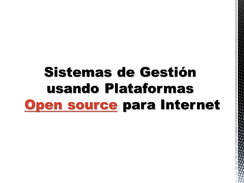 Open source para Internet