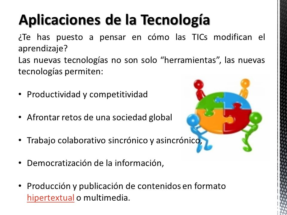 Aplicaciones de la Tecnología