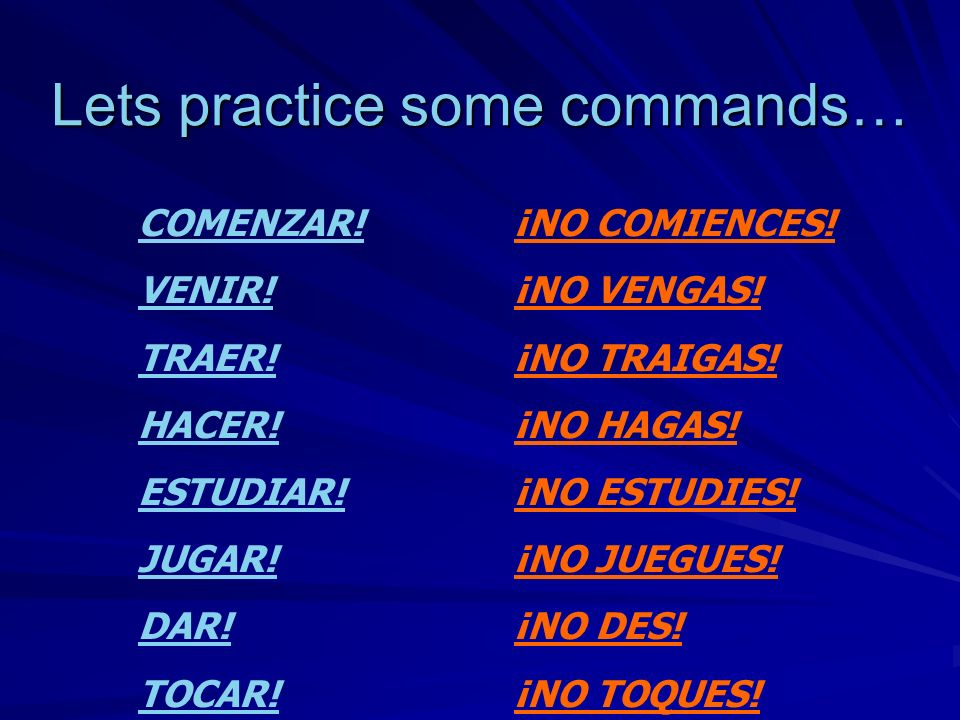 Lets practice some commands…
