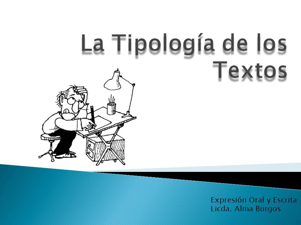 La Tipología de los Textos