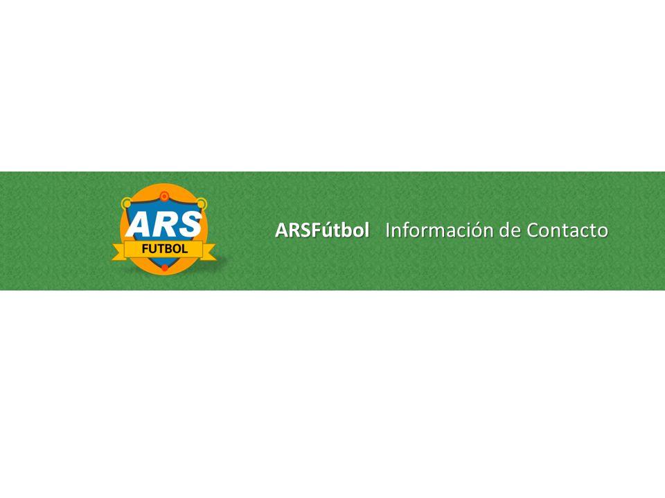 ARSFútbol Información de Contacto