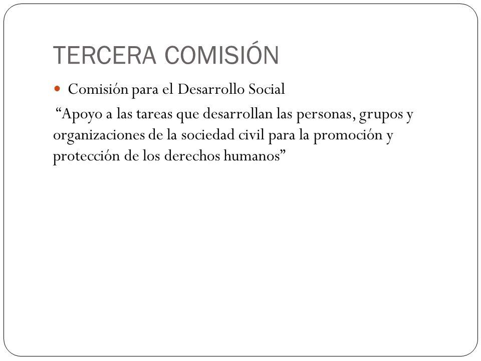 TERCERA COMISIÓN Comisión para el Desarrollo Social