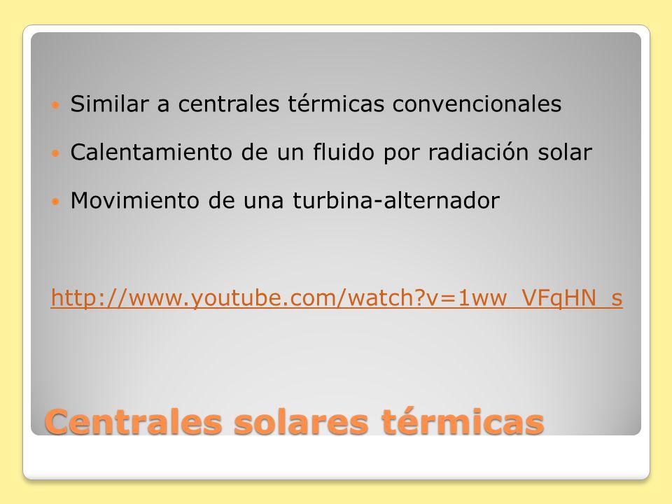 Centrales solares térmicas