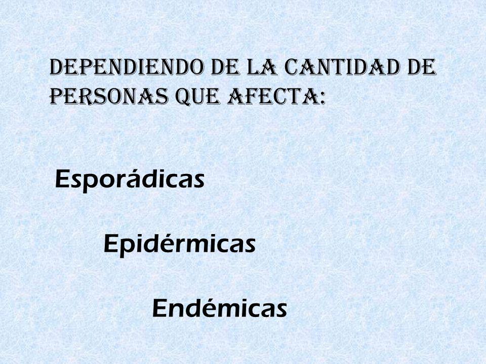 Esporádicas Epidérmicas Endémicas