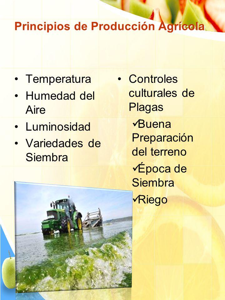 Principios de Producción Agrícola