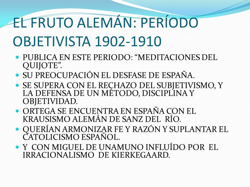 EL FRUTO ALEMÁN: PERÍODO OBJETIVISTA 1902-1910