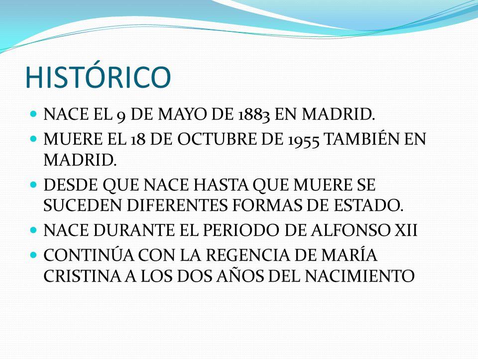 HISTÓRICO NACE EL 9 DE MAYO DE 1883 EN MADRID.