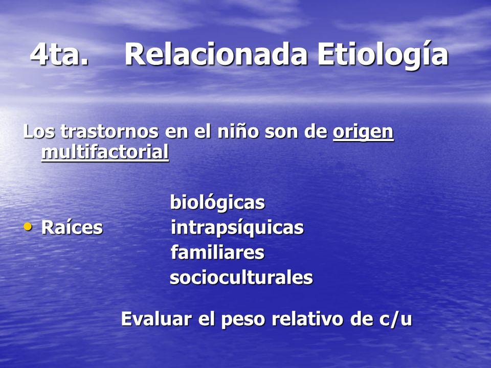 4ta. Relacionada Etiología