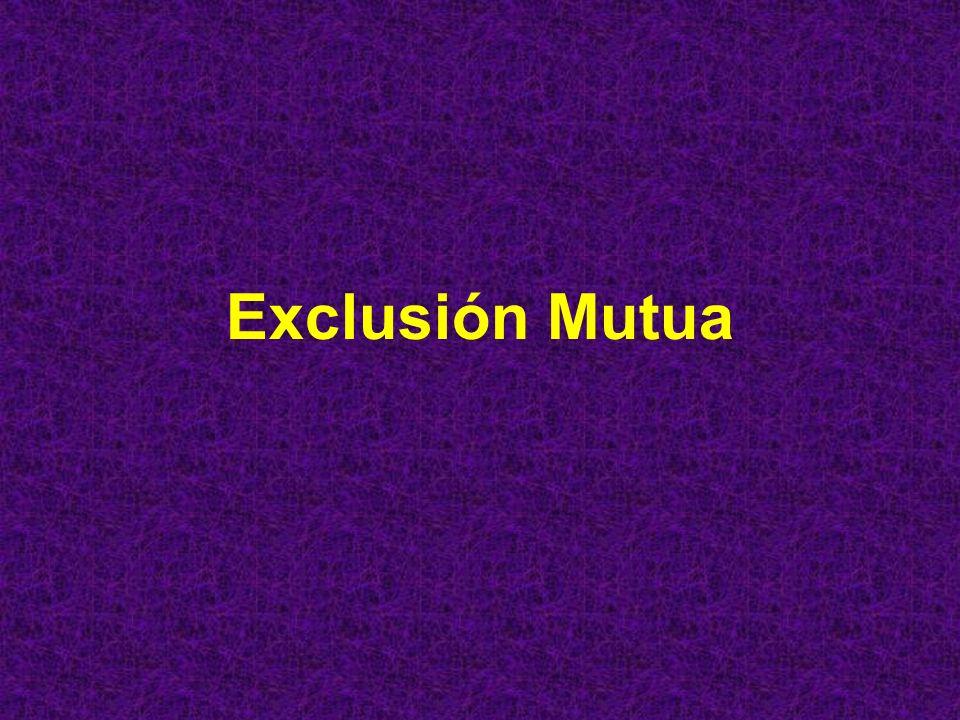 Exclusión Mutua