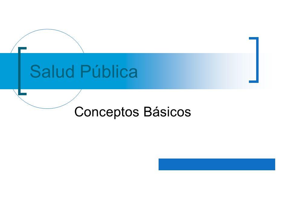 Salud Pública Conceptos Básicos
