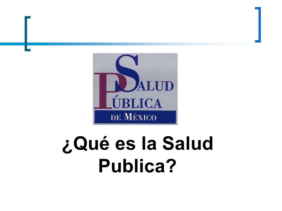 ¿Qué es la Salud Publica