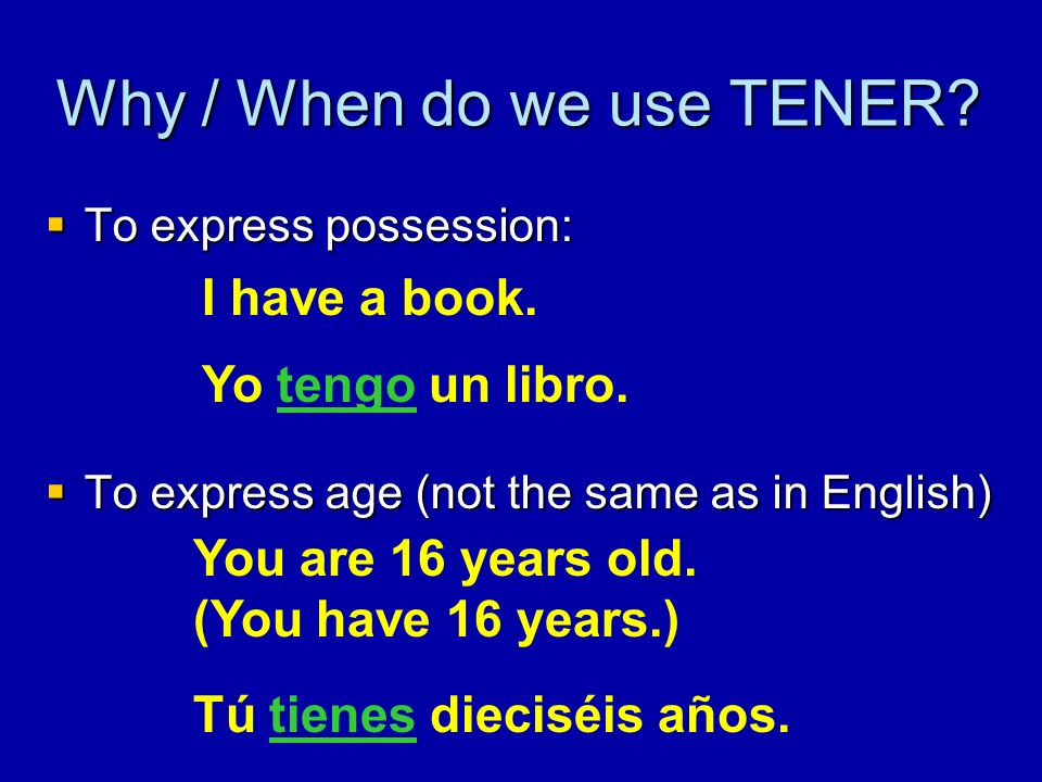 Why / When do we use TENER