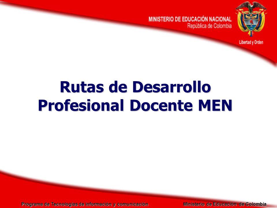Rutas de Desarrollo Profesional Docente MEN