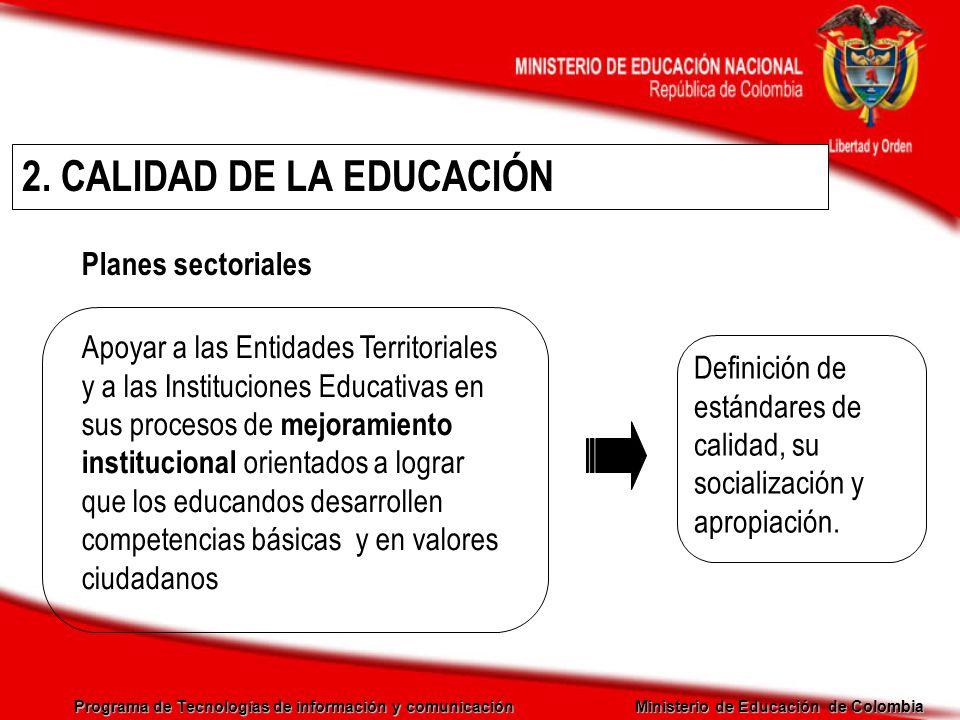 2. CALIDAD DE LA EDUCACIÓN