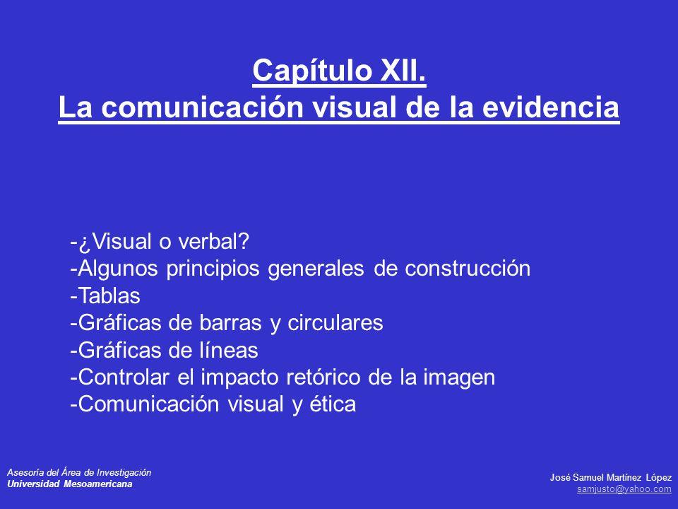 Capítulo XII. La comunicación visual de la evidencia