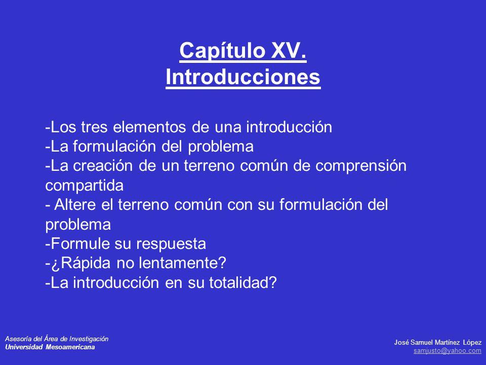 Capítulo XV. Introducciones