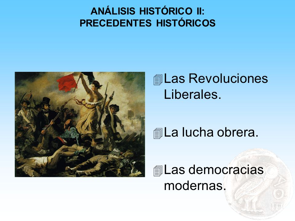 ANÁLISIS HISTÓRICO II: PRECEDENTES HISTÓRICOS