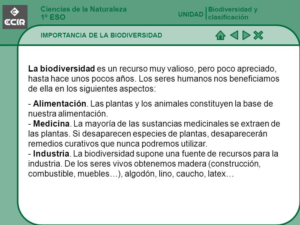 Biodiversidad y clasificación