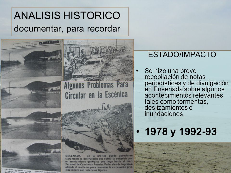 ANALISIS HISTORICO documentar, para recordar