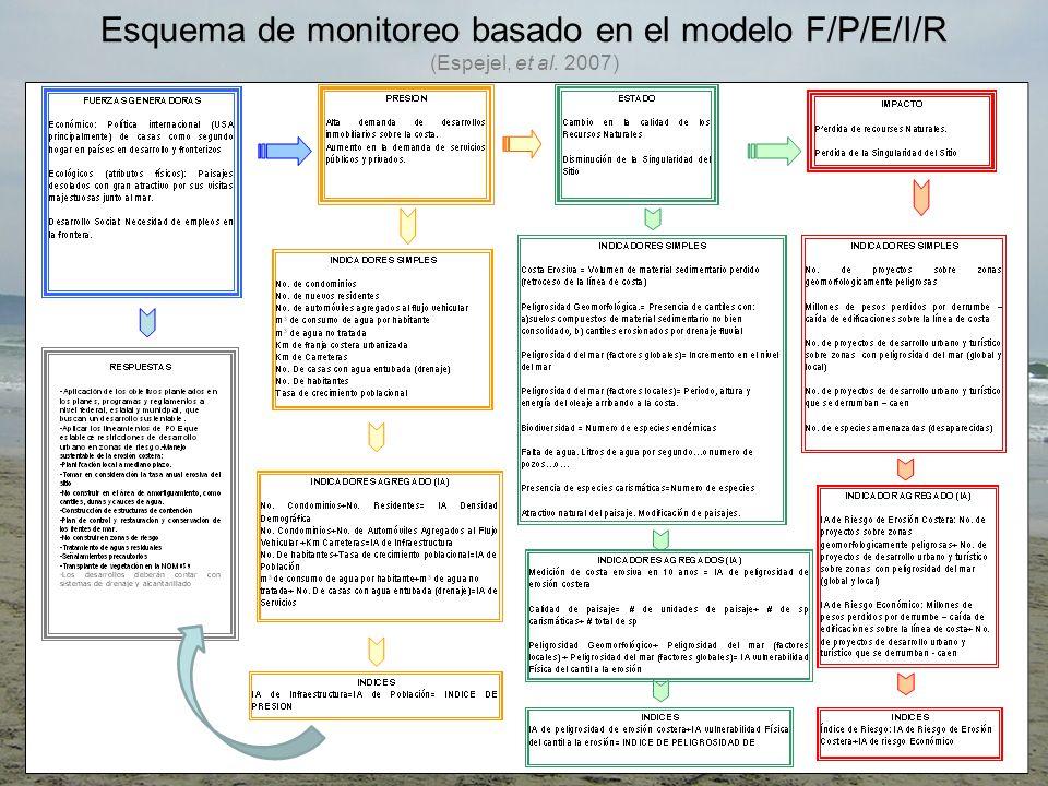 Esquema de monitoreo basado en el modelo F/P/E/I/R (Espejel, et al