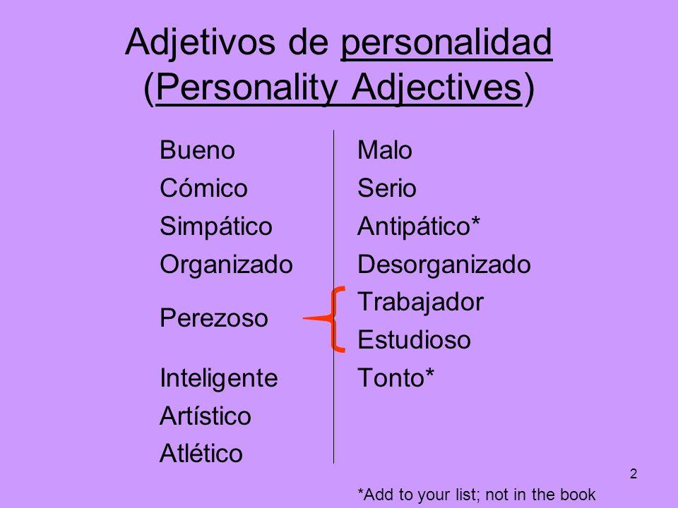 Adjetivos de personalidad (Personality Adjectives)