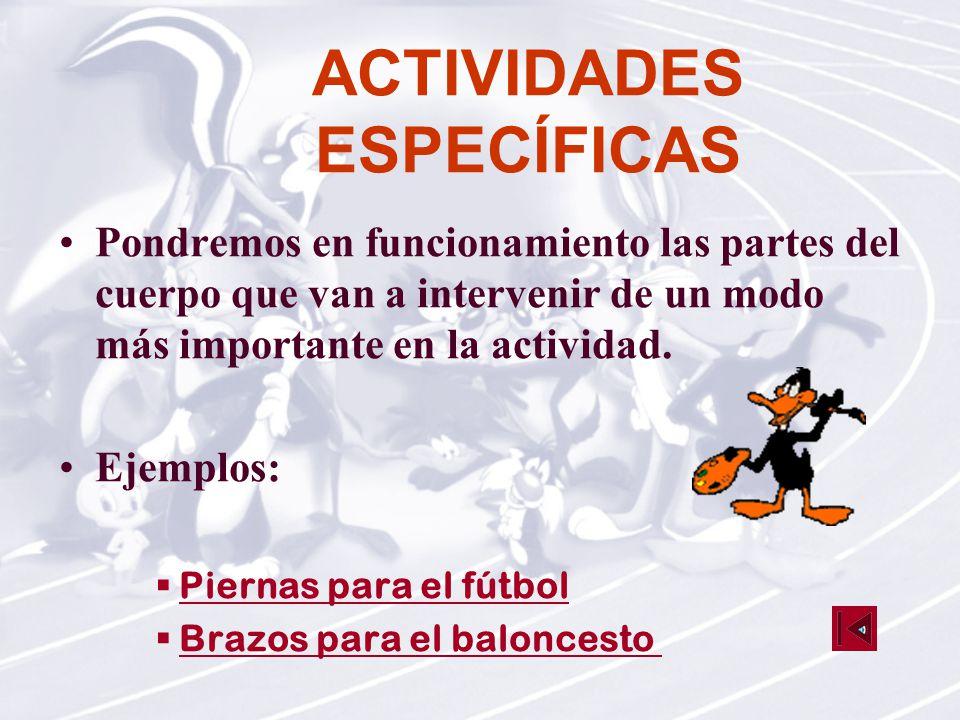 ACTIVIDADES ESPECÍFICAS