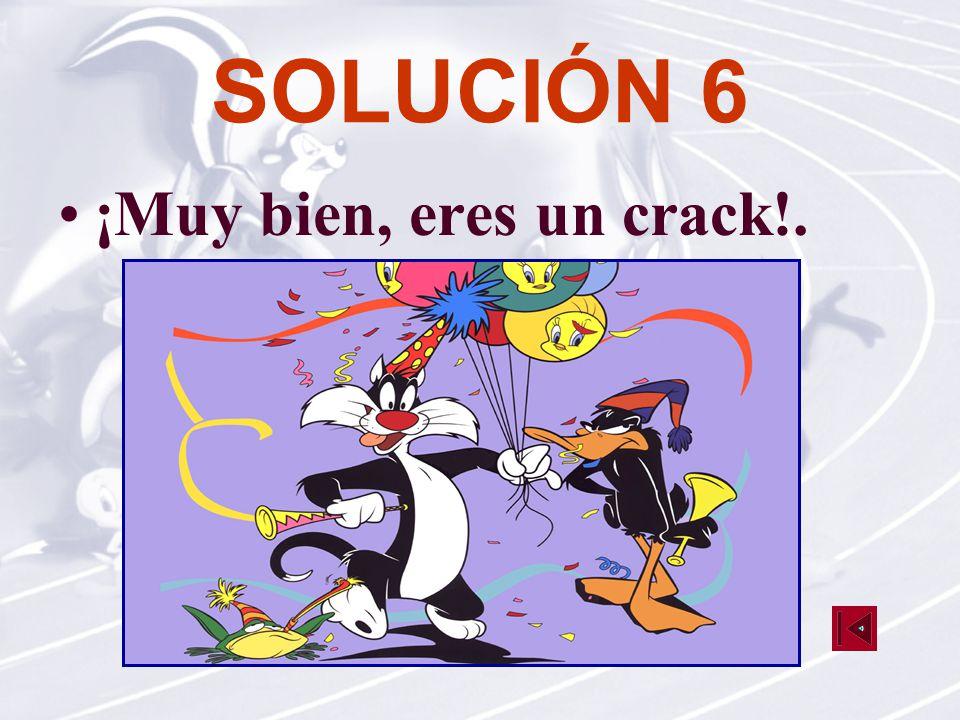 SOLUCIÓN 6 ¡Muy bien, eres un crack!.