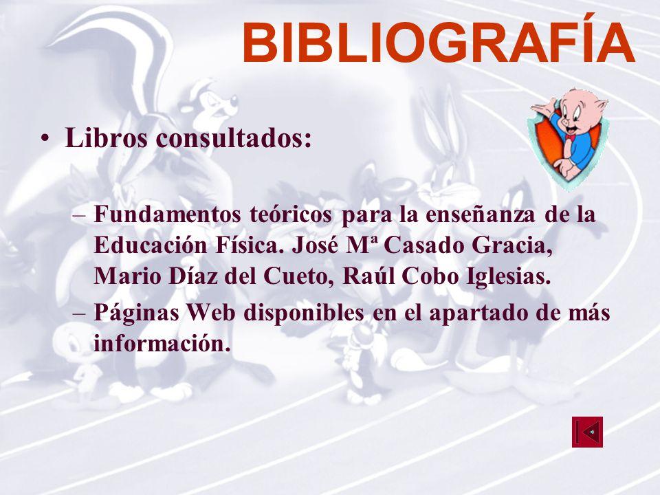 BIBLIOGRAFÍA Libros consultados: