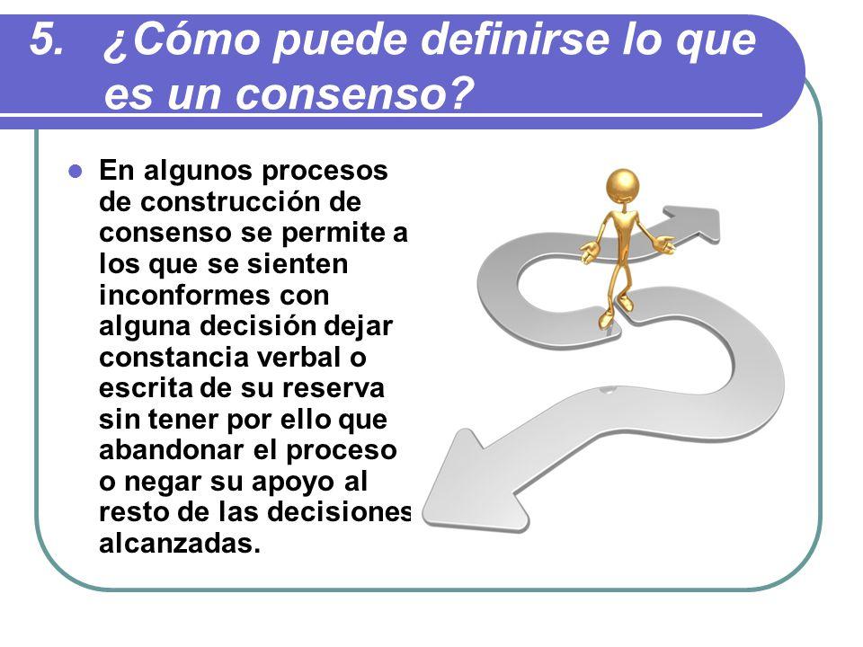 ¿Cómo puede definirse lo que es un consenso