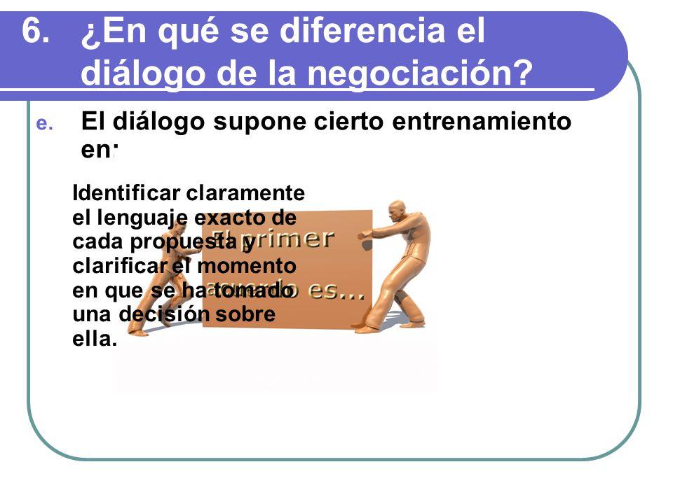 ¿En qué se diferencia el diálogo de la negociación