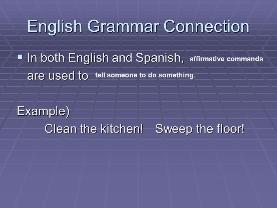 English Grammar Connection