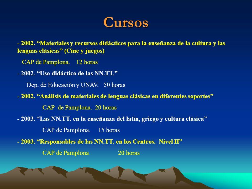 Cursos- 2002. Materiales y recursos didácticos para la enseñanza de la cultura y las lenguas clásicas (Cine y juegos)