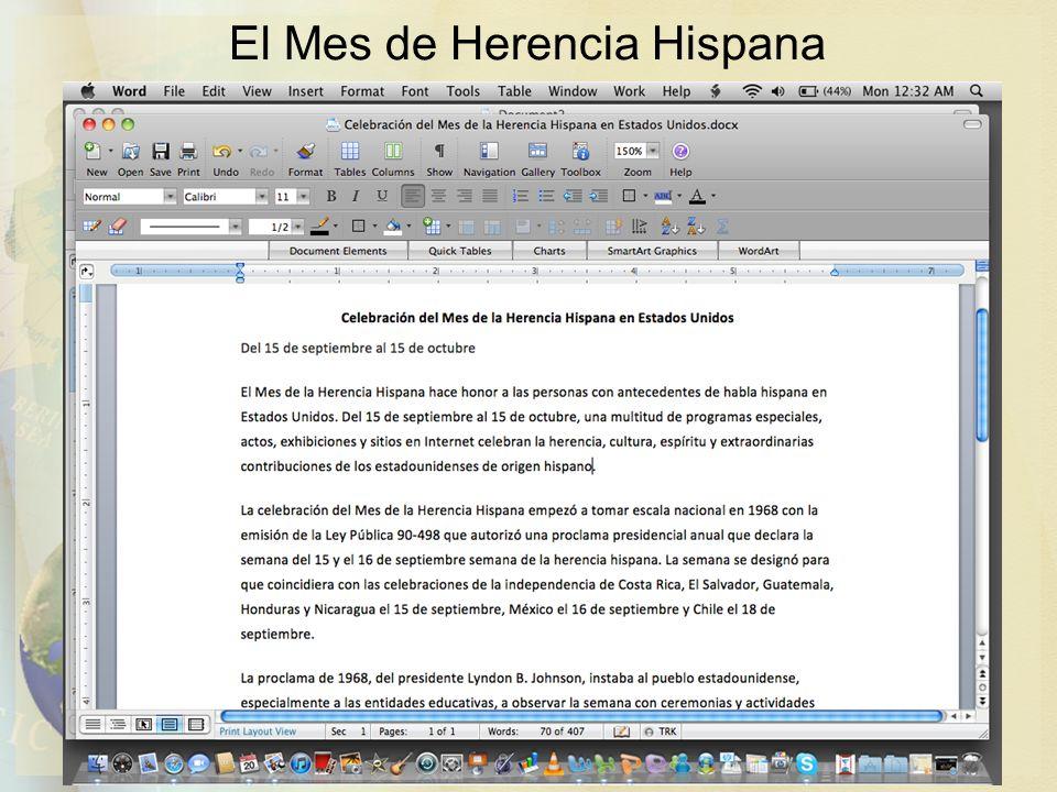 El Mes de Herencia Hispana