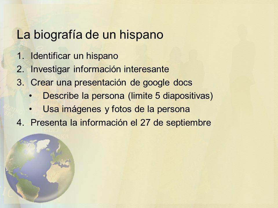 La biografía de un hispano