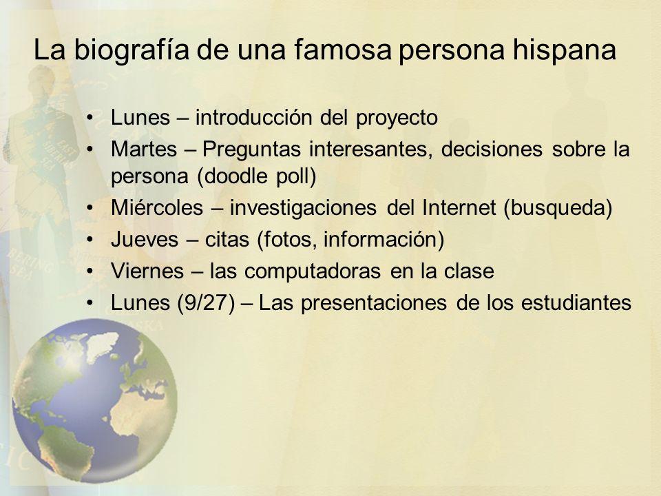 La biografía de una famosa persona hispana