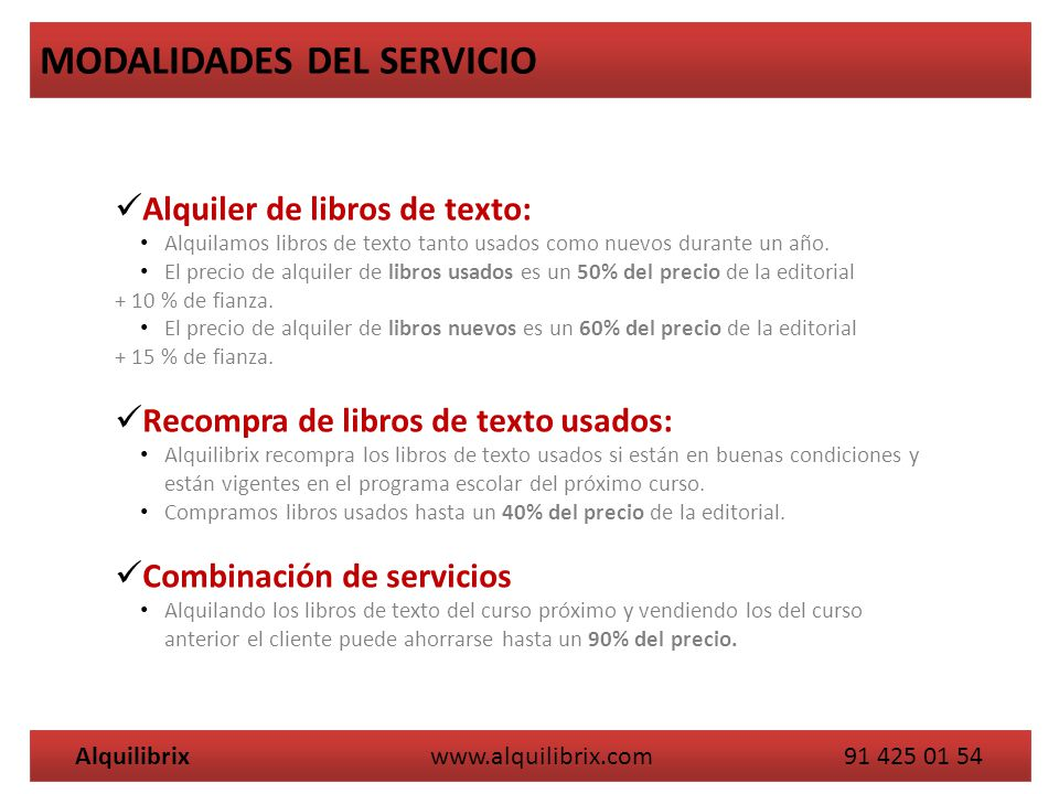 Alquilibrix www.alquilibrix.com 91 425 01 54
