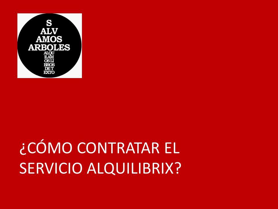 ¿CÓMO CONTRATAR EL SERVICIO ALQUILIBRIX