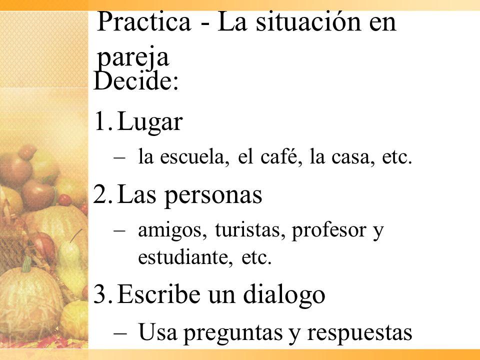 Practica - La situación en pareja