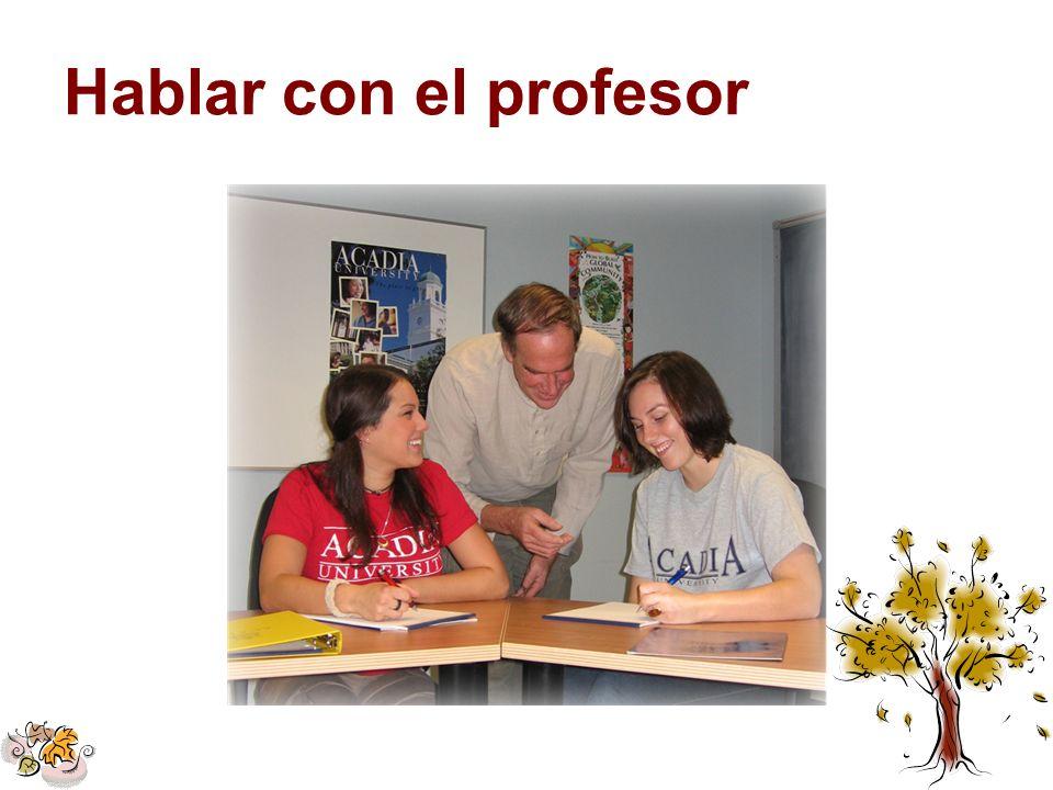 Hablar con el profesor