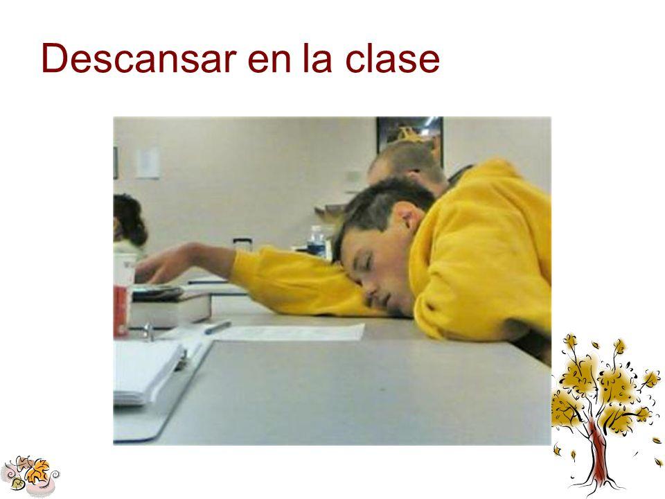 Descansar en la clase