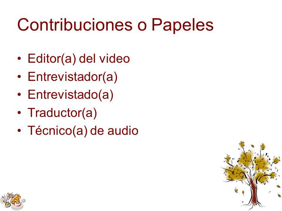 Contribuciones o Papeles