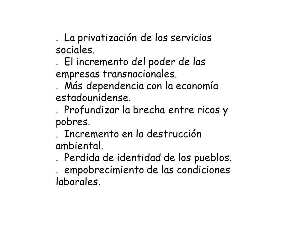 . La privatización de los servicios sociales.