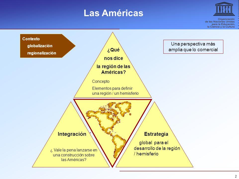 la región de las Américas