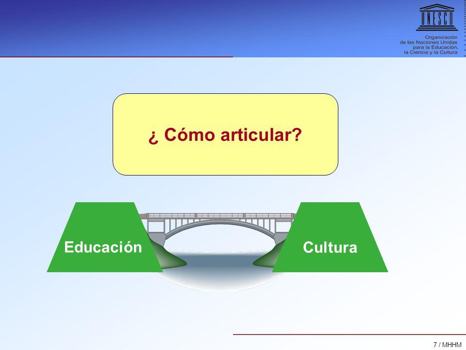¿ Cómo articular Educación Cultura