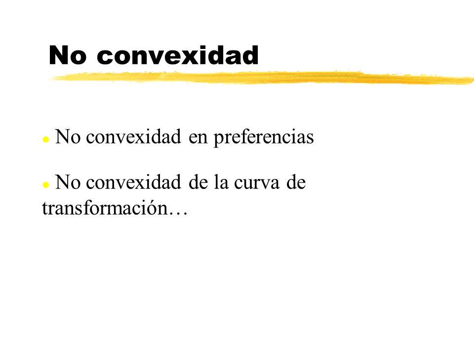 No convexidad No convexidad en preferencias