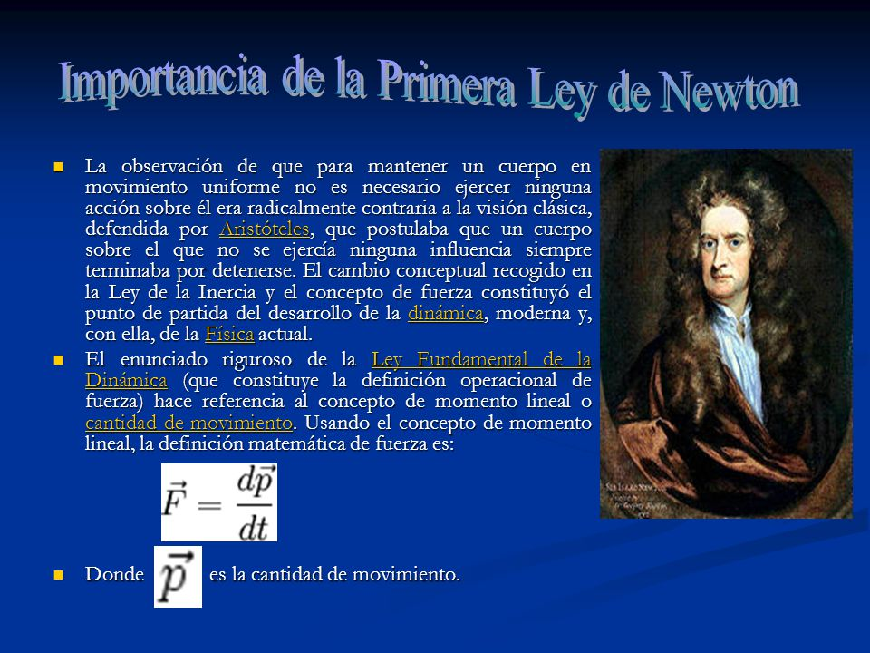Importancia de la Primera Ley de Newton