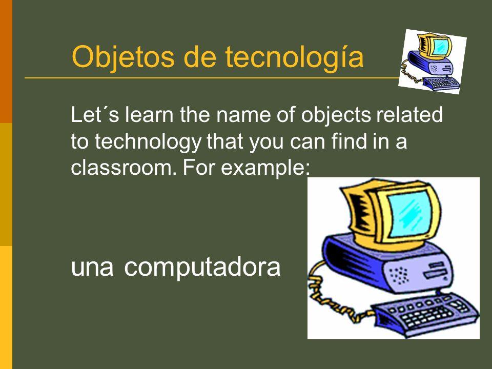 Objetos de tecnología una computadora