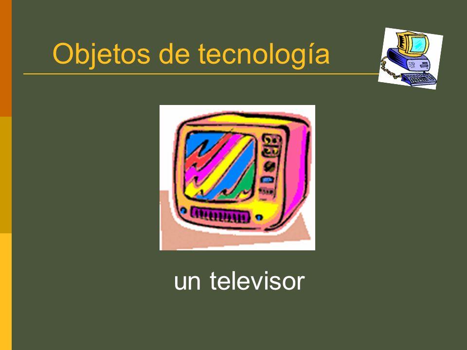 Objetos de tecnología un televisor