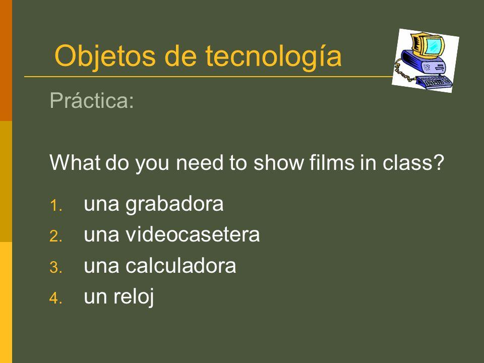 Objetos de tecnología Práctica: