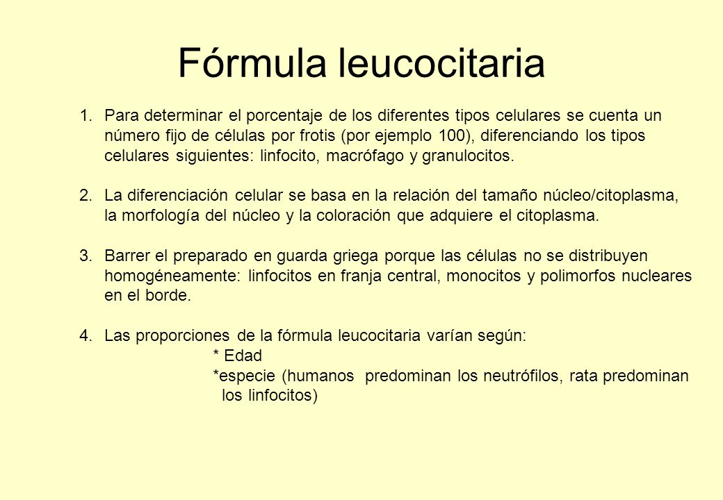 Fórmula leucocitaria